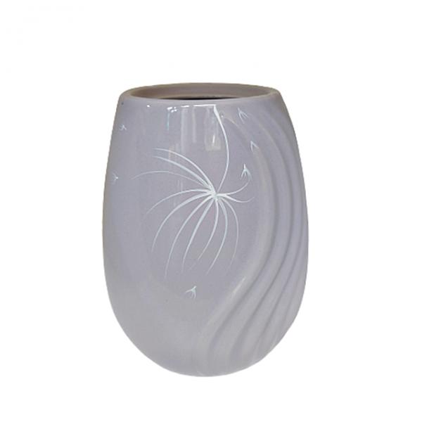 Vaza ceramica Amethyst Debbie mov 19cm