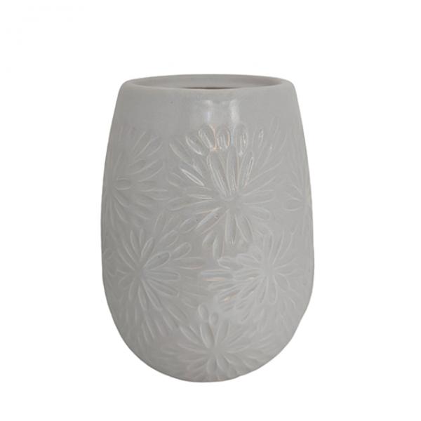 Vaza ceramica Amethyst Lauren mov 19cm