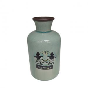 Vaza ceramica Antique Garden bleu 17cm