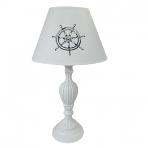 Veioza alba Anchor lemn Lampa 50cm