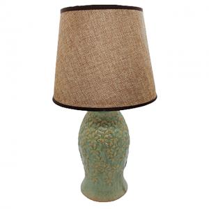 Veioza verde Theresa ceramica lampa vintage 36cm
