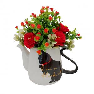 Aranjament flori artificiale Black Cat 25cm