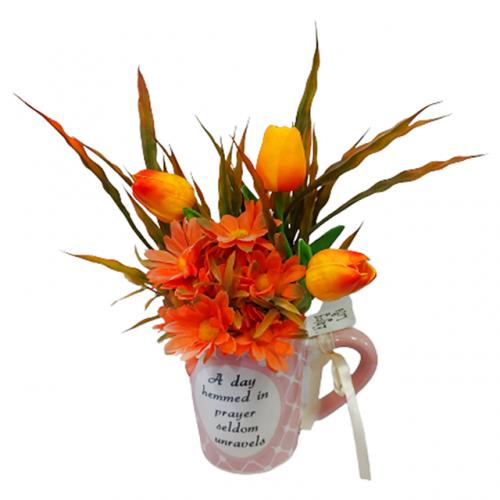 Aranjament flori artificiale Faith 30cm