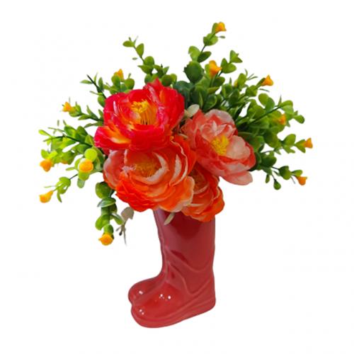 Aranjament flori artificiale Red Boot 25cm