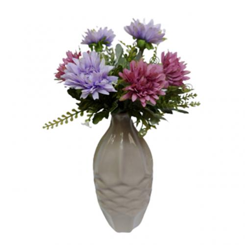 Buchet crizanteme artificiale Purple Lora 30cm
