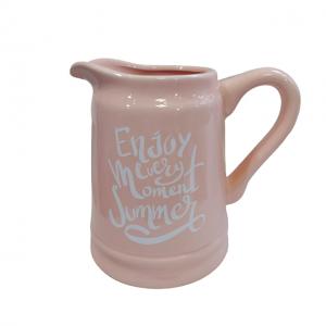 Carafa roz ceramica Summer vaza 15cm