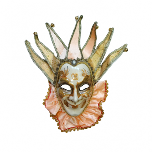 Masca venetiana decorativa Salmon Joker