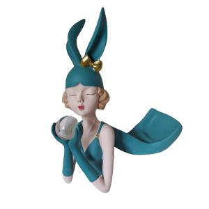 Statueta Mademoiselle 29cm suport sticla