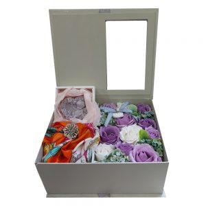 Trandafiri sapun Bernadette mov