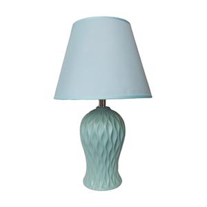 Veioza albastra Gianluca ceramica 40cm