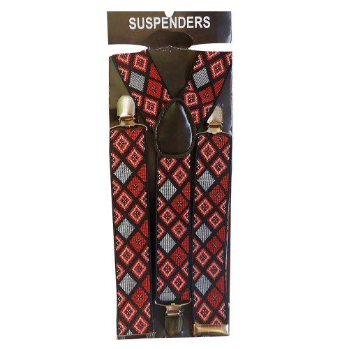Bretele elastice multicolore Red Joseph