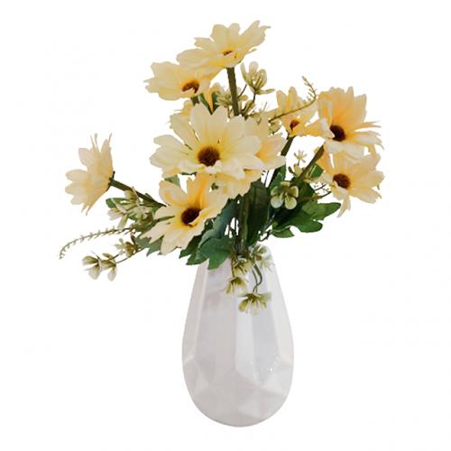 Buchet crizanteme artificiale Daphne galben 30cm