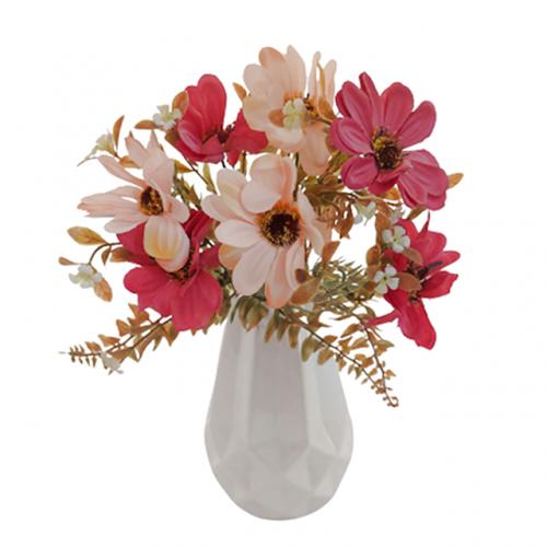 Buchet crizanteme artificiale roz Lory 30cm