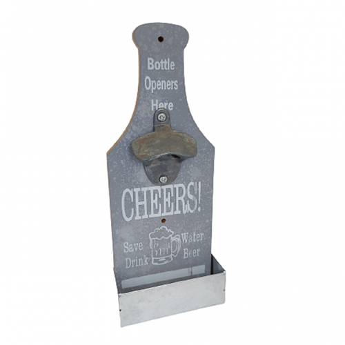 Desfacator sticle de perete Cheers lemn 11x29cm