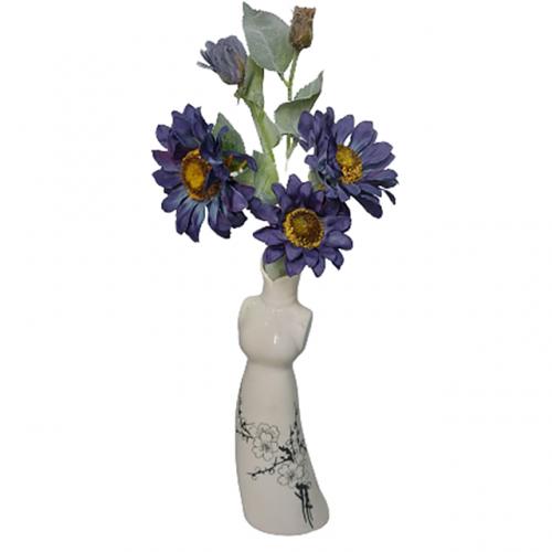 Floarea Soarelui artificiala Blue Sunny 62cm