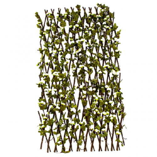 Gard artificial trandafiri Ivory Patio extensibil