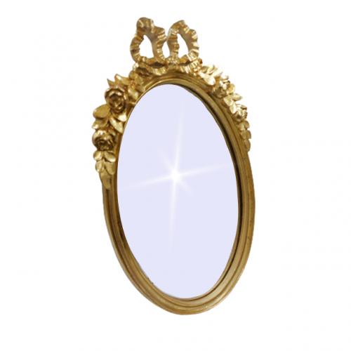 Oglinda de masa Memories auriu antichizat 19x31cm