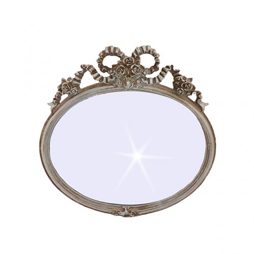 Oglinda perete Magic Mirror argintiu-antichizat 29x28cm