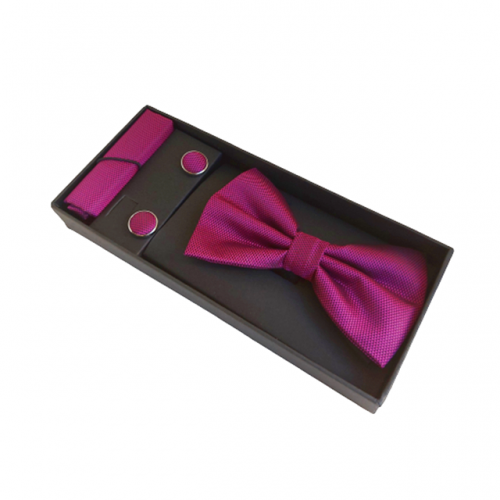 Papion roz Magenta Mistery cu butoni