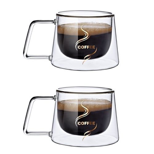 Set 2 cesti sticla borosilicata Coffee 230ml