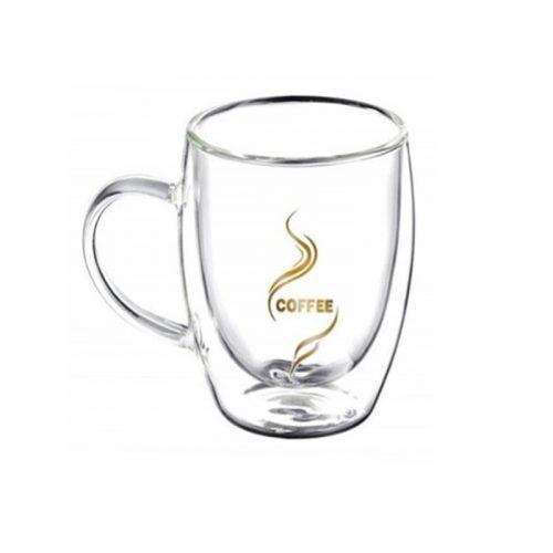 Cana sticla borosilicata Coffee 250ml, Perete dublu