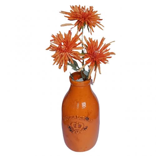 Crizantema artificiala Orange Beauty 65cm