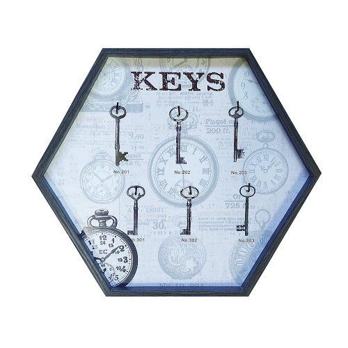 Cuier chei Antique Keys lemn 28x33cm