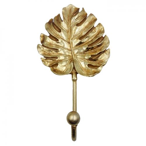 Cuier frunza decorativa Goldie 18cm rasina