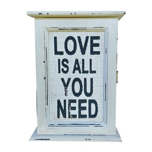 Cutie chei Vintage Love lemn 24x6x18cm