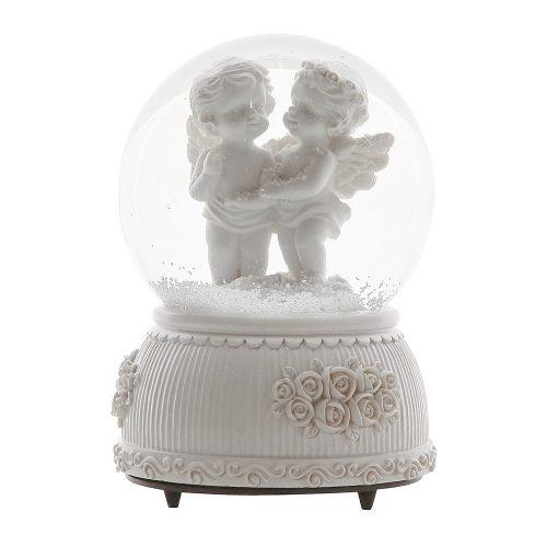 Glob din sticla muzical White Angels