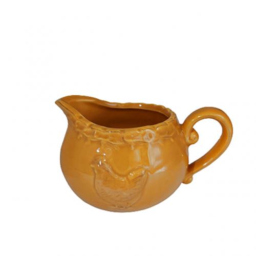 Latiera galbena Coq ceramica 8x6cm