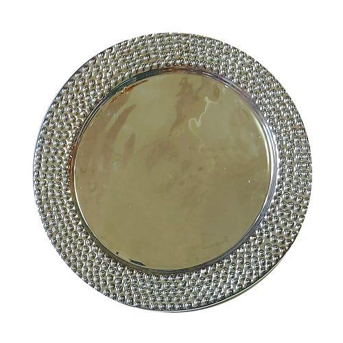 Platou ceramica Silver Abigail farfurie 26cm