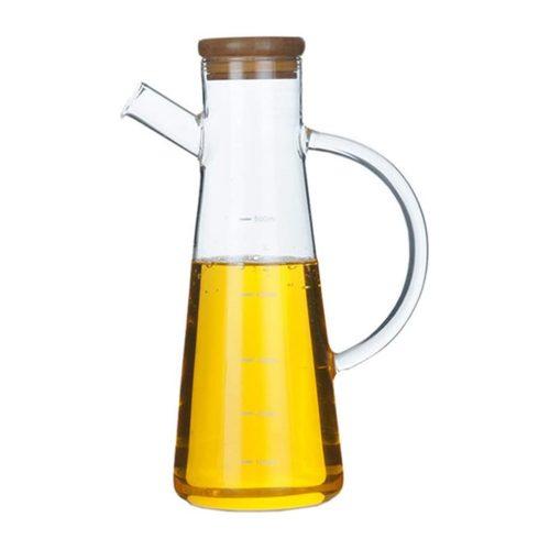 Recipient sticla borosilicata pentru ulei otet Thor 650ml