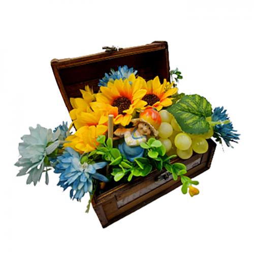 Aranjament flori artificiale cu figurina Alex