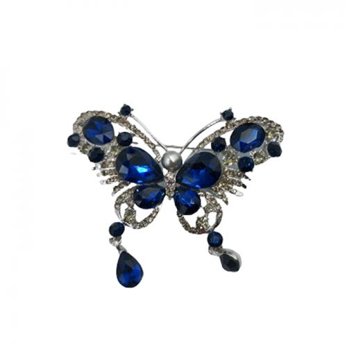 Brosa fluture argintiu Blue Bella