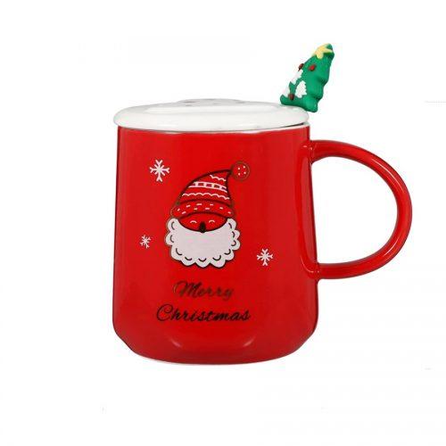 Cana cu capac Red Santa 350ml