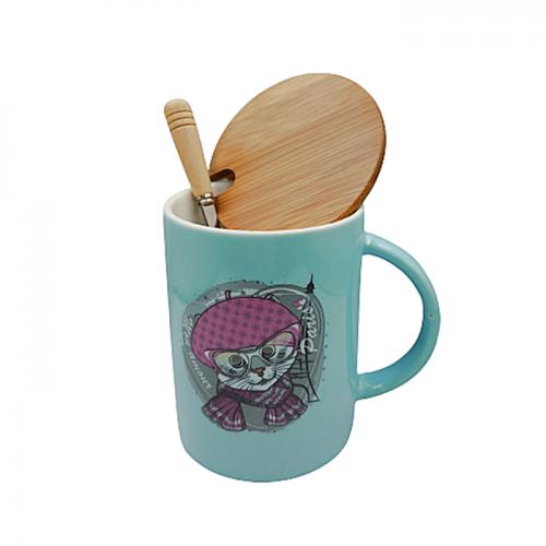 Cana pisica Freya cu capac bambus