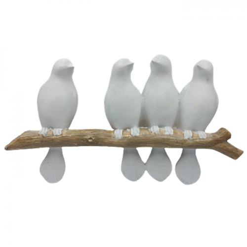Cuier rasina White Birds 27x15cm