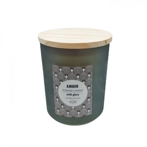 Lumanare parfumata Relaxing Amber 9x10cm