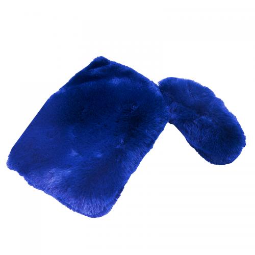 Poseta blana ecologica Fluffy albastru