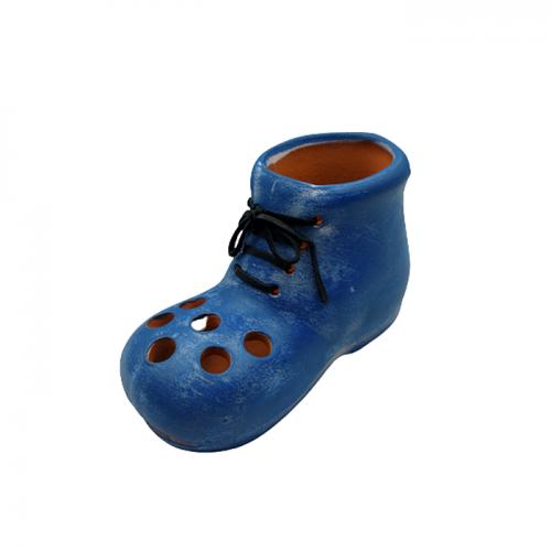 Suport pixuri Blue Boot ceramica