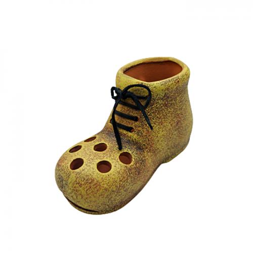 Suport pixuri Yellow Boot ceramica