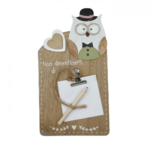 Suport post-it notite Jareth Owl lemn