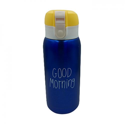 Termos inox Good Morning 180ml albastru